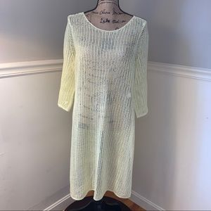 EILEEN FISHER Organic Linen Open Knit Tunic XL